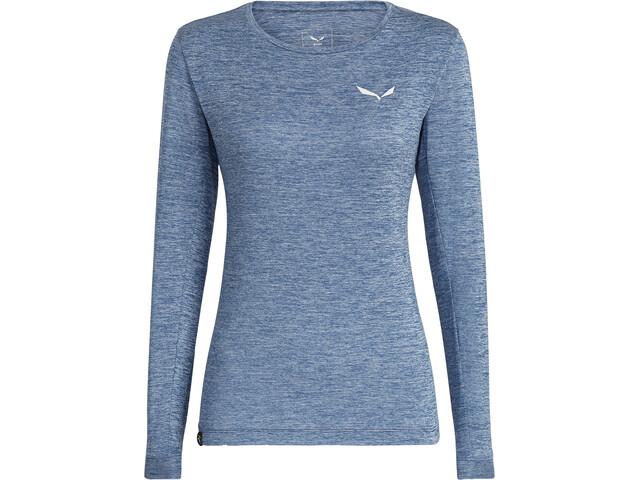 SALEWA Puez Melange Dry Langærmet T-shirt Damer, poseidon melange